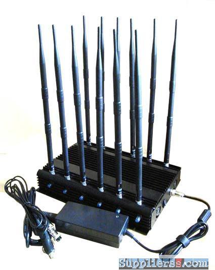 8 Antennas Mobile Phone Blocker - Powerful 4 Bands GSM CDMA DCS 3G Mobile Phone Jammer With 50 Meters Radius
